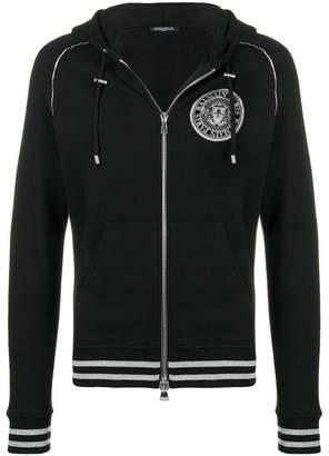 Balmain zip front hoodie