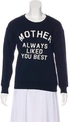 Mother Logo-Printed Crew-Neck Sweatshirt