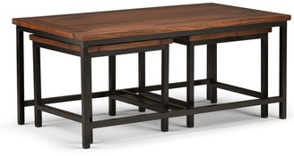 Simpli Home Skyler Nesting Coffee Table & End Table 3-piece Set