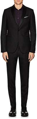 Pal Zileri MEN'S SATIN-TRIMMED WOOL-BLEND ONE-BUTTON SUIT