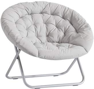 Pottery Barn Teen Hang-A-Round Chair, Light Grey Rip Stop Nylon w/ Silver Base