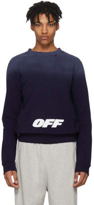 Off-White Navy Wing Off Sweatshirt