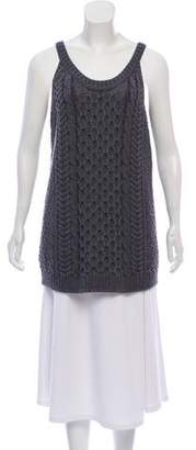 Miu Miu Sleeveless Wool Top