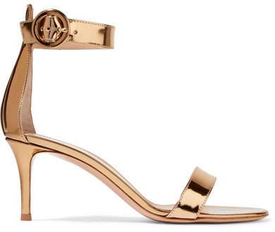 Gianvito Rossi - Portofino Metallic Leather Sandals - Gold