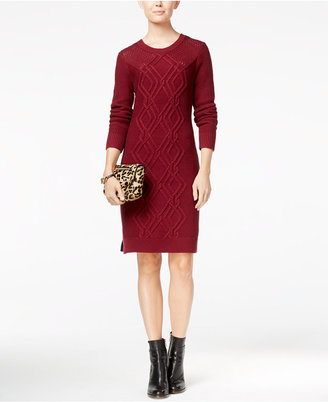 Tommy Hilfiger Adela Cable-Knit Sweater Dress $98.50 thestylecure.com