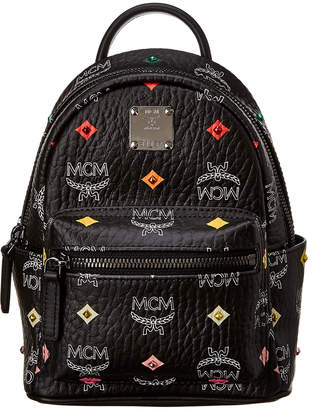 MCM Stark Bebe Boo Mini Studded Visetos Backpack