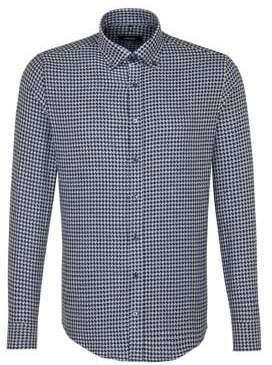 Seidensticker Tailored-Fit Houndstooth Sportshirt