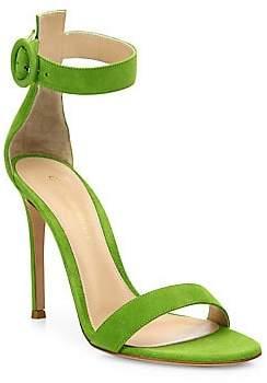a5ea00b2e93e1 Gianvito Rossi Women s Portofino Suede Ankle-Strap Sandals