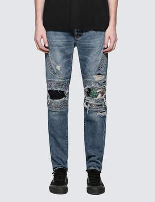Marcelo Burlon County of Milan Strong Wash Biker Jeans