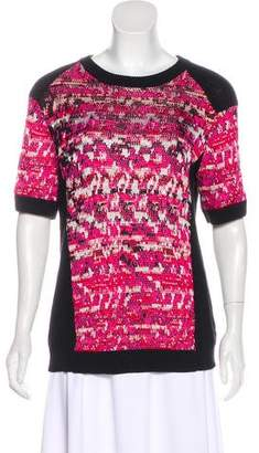 Marc by Marc Jacobs Patterned Short Sleeve Sweater