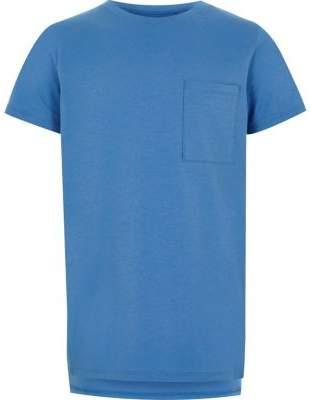 River Island Boys blue pocket T-shirt