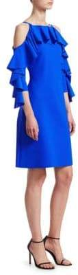 Chiara Boni Women's Marcellina Ruffle Dress - Blue - Size 44 (8)