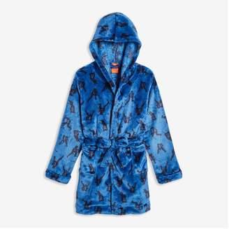 Joe Fresh Kid Boys' Fleece Robe, Blue (Size M)
