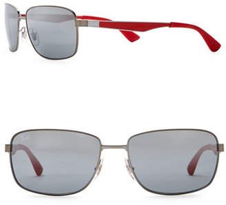 Ray-Ban 61mm Square Sunglasses