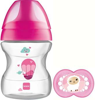 Mam Learn to Drink Cup 190ml & 6+m Soother For - (PINK)