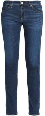 AG Jeans Faded Low-Rise Skinny Jeans