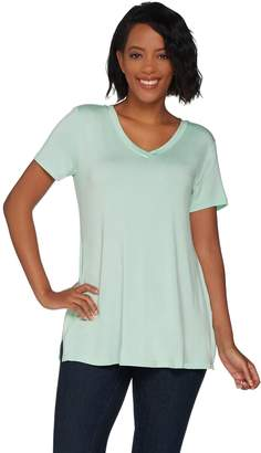 Halston H By H by Essentials V-neck Tunic with Side Slits