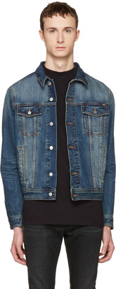 AMI Alexandre Mattiussi Blue Denim Jacket $365 thestylecure.com