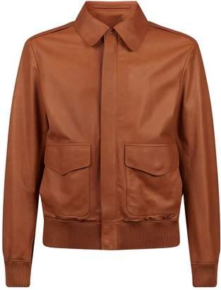 Ralph Lauren Purple Label Leather Bomber Jacket