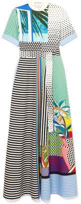 Mary Katrantzou Marlene Printed Cotton Maxi Dress - Gray