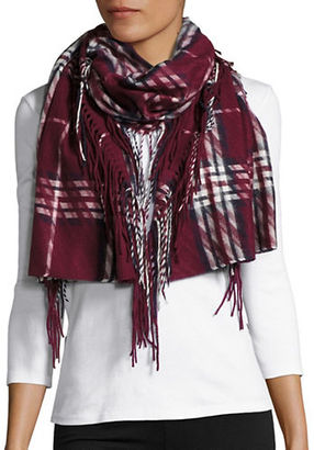 Lord & Taylor Plaid Fringed Muffler $58 thestylecure.com
