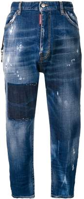 DSQUARED2 faded denim culottes
