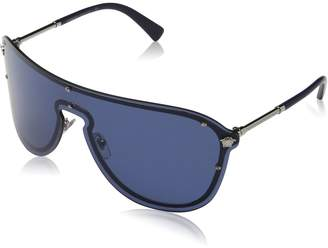 Versace Blue Rectangular Sunglasses