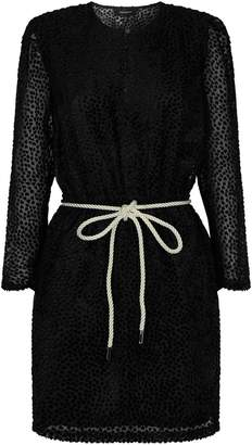 Robert Rodriguez Velvet Belted Mini Dress