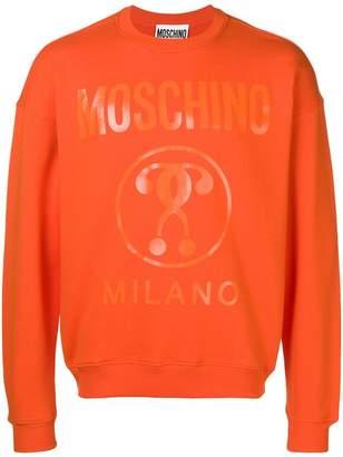 Moschino classic logo jersey sweater