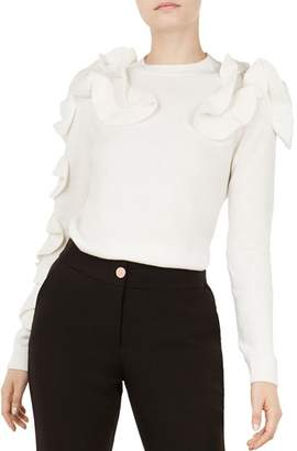 Ted Baker Pallege Ruffle-Trimmed Sweater