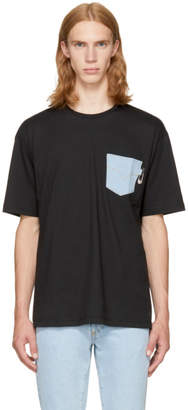 Versus Black Denim Pocket T-Shirt