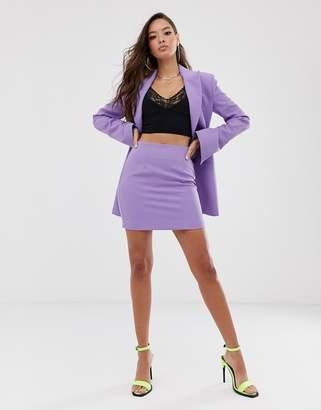 Asos Design DESIGN mini suit skirt in lilac pop