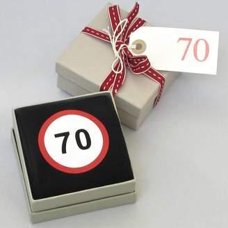Chapel Cards Happy 70th Birthday Socks