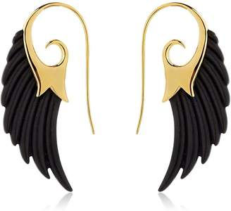 Fly London Me To The Moon Wing Ebony Earrings