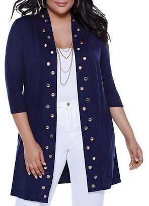 Belldini Plus Grommet Duster Cardigan - 100% Exclusive