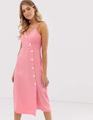Pimkie button side cami dress in pink