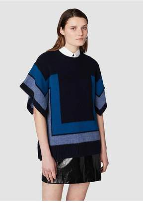 Derek Lam 10 Crosby Short Sleeve Blanket Sweater