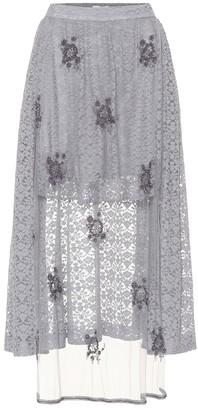 Stella McCartney Embellished lace skirt