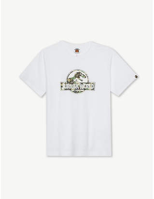 A Bathing Ape Jurassic World logo cotton T-shirt 4-8 years