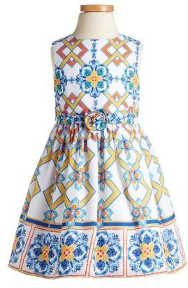 Toddler Girl's Pippa & Julie Tile Print Dress $44 thestylecure.com