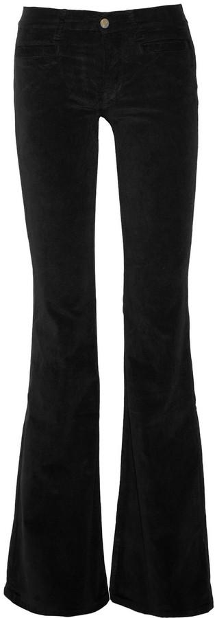 MiH Jeans Marrakesh mid-rise velvet flared jeans
