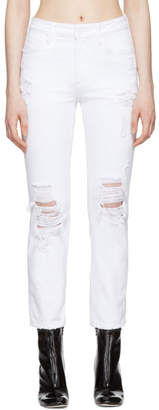 Alexander Wang White Destroyed Cult Jeans