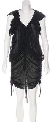 AllSaints Silk Mini Dress