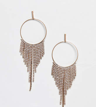 Aldo rhinestone chandelier hoop earrings