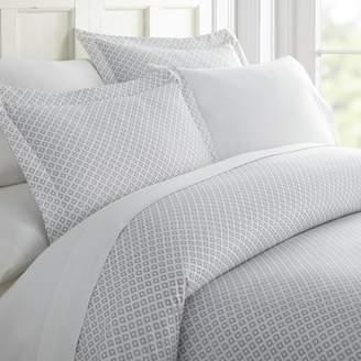 Noble Linens Premium Ultra Soft Polaris Pattern 3 Piece Duvet Cover Set