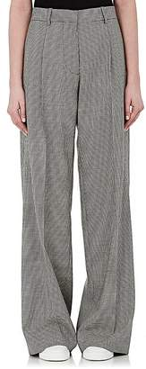 Victoria Beckham Women's Houndstooth Wool Wide-Leg Trousers