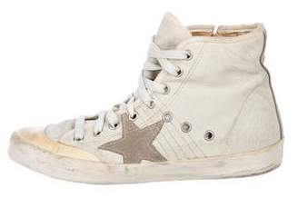 Golden Goose Distress Round-Toe Sneakers