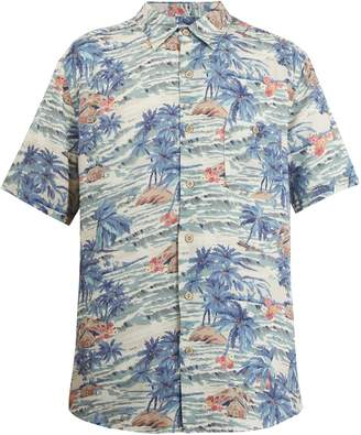 Faherty Short-sleeve Hawaiian-print shirt