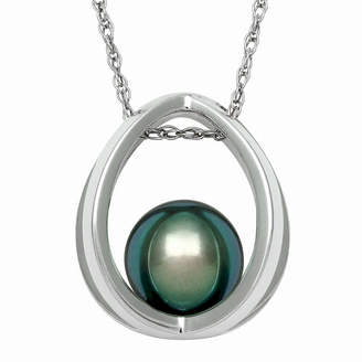 JCPenney FINE JEWELRY Genuine Tahitian Pearl Sterling Silver Suspended Pendant Necklace