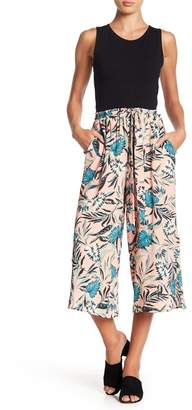 June & Hudson Front Tie Cropped Palazzo Pants